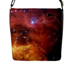 SKULL & CROSSBONES Flap Messenger Bag (L)