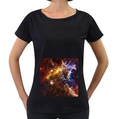 ROSETTE CLOUD Women s Loose-Fit T-Shirt (Black)