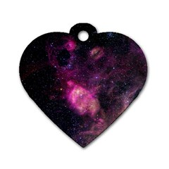 PURPLE CLOUDS Dog Tag Heart (Two Sides)