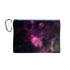 PURPLE CLOUDS Canvas Cosmetic Bag (M)