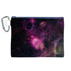 PURPLE CLOUDS Canvas Cosmetic Bag (XL)