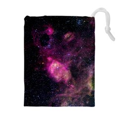 PURPLE CLOUDS Drawstring Pouches (Extra Large)