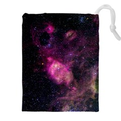 PURPLE CLOUDS Drawstring Pouches (XXL)