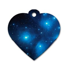 PLEIADES Dog Tag Heart (Two Sides)