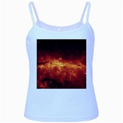 MILKY WAY CLOUDS Baby Blue Spaghetti Tanks