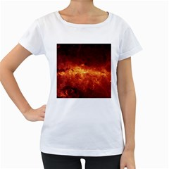 Milky Way Clouds Women s Loose Fit T Shirt (white)