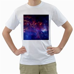 Milky Way Center Men s T Shirt (white) (two Sided)