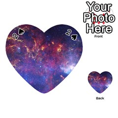 Milky Way Center Playing Cards 54 (heart)
