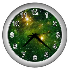 HYDROCARBONS IN SPACE Wall Clocks (Silver)