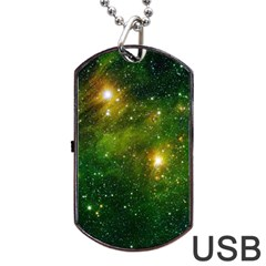Hydrocarbons In Space Dog Tag Usb Flash (two Sides)