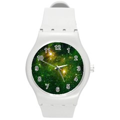 HYDROCARBONS IN SPACE Round Plastic Sport Watch (M)