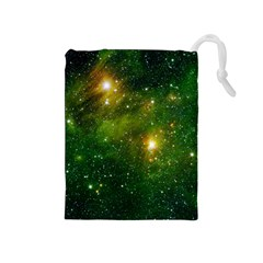 Hydrocarbons In Space Drawstring Pouches (medium)