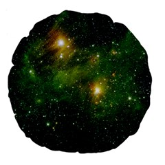 HYDROCARBONS IN SPACE Large 18  Premium Flano Round Cushions