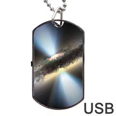 HIDDEN BLACK HOLE Dog Tag USB Flash (Two Sides)