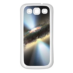 HIDDEN BLACK HOLE Samsung Galaxy S3 Back Case (White)