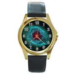 HELIX NEBULA Round Gold Metal Watches