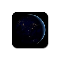 GLOBAL NIGHT Rubber Square Coaster (4 pack)