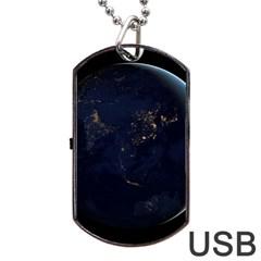 GLOBAL NIGHT Dog Tag USB Flash (One Side)