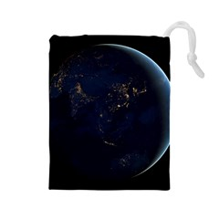 GLOBAL NIGHT Drawstring Pouches (Large)