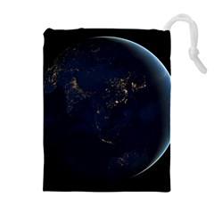 GLOBAL NIGHT Drawstring Pouches (Extra Large)