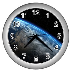 EARTH ORBIT Wall Clocks (Silver)