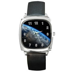 Earth Orbit Square Metal Watches