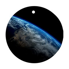 EARTH ORBIT Round Ornament (Two Sides)