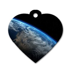 EARTH ORBIT Dog Tag Heart (Two Sides)