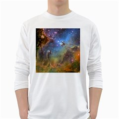Eagle Nebula White Long Sleeve T Shirts