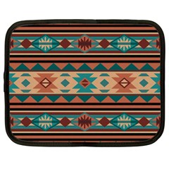 Southwest Design Turquoise and Terracotta Netbook Case (Large)