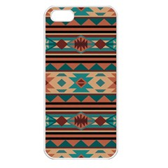 Southwest Design Turquoise and Terracotta Apple iPhone 5 Seamless Case (White)