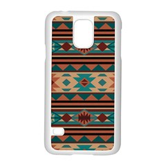 Southwest Design Turquoise and Terracotta Samsung Galaxy S5 Case (White)