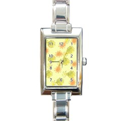 Shabby Floral 1 Rectangle Italian Charm Watches