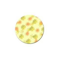 Shabby Floral 1 Golf Ball Marker (4 Pack)