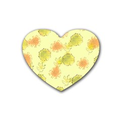Shabby Floral 1 Heart Coaster (4 pack)