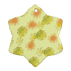 Shabby Floral 1 Snowflake Ornament (2-Side)