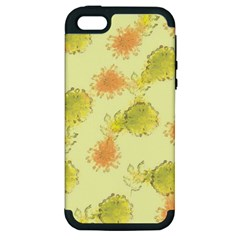 Shabby Floral 1 Apple iPhone 5 Hardshell Case (PC+Silicone)