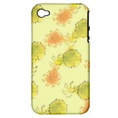 Shabby Floral 1 Apple iPhone 4/4S Hardshell Case (PC+Silicone)