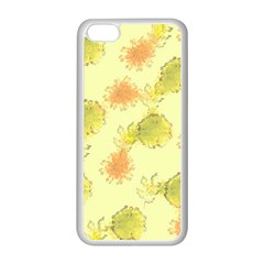 Shabby Floral 1 Apple iPhone 5C Seamless Case (White)