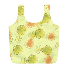 Shabby Floral 1 Full Print Recycle Bags (L)