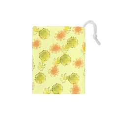 Shabby Floral 1 Drawstring Pouches (Small)