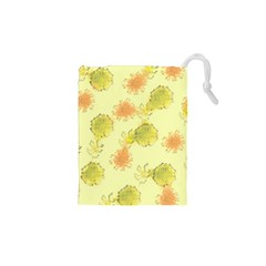 Shabby Floral 1 Drawstring Pouches (xs)