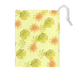 Shabby Floral 1 Drawstring Pouches (Extra Large)