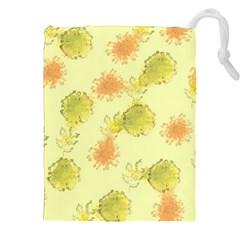 Shabby Floral 1 Drawstring Pouches (xxl)