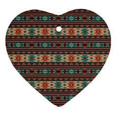 Southwest Design Turquoise and Terracotta Ornament (Heart)