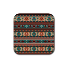 Southwest Design Turquoise and Terracotta Rubber Square Coaster (4 pack)