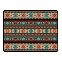 Southwest Design Turquoise and Terracotta Fleece Blanket (Small)