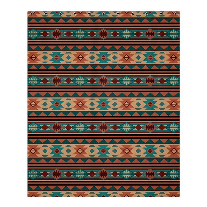 Southwest Design Turquoise And Terracotta Shower Curtain 60\
