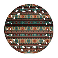 Southwest Design Turquoise and Terracotta Round Filigree Ornament (2Side)