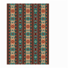 Southwest Design Turquoise And Terracotta Small Garden Flag (two Sides)